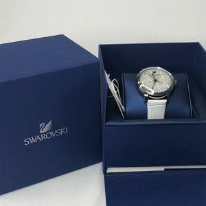 Swarovski Crystalline 38mm SS Silver / White watch